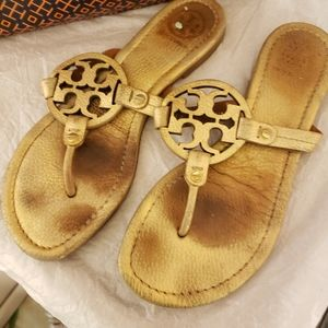 Tory Burch miller sandal in gold